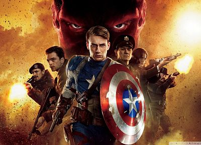 movies, Captain America, Chris Evans, Red Skull, Hayley Atwell, Tommy Lee Jones, Captain America: The First Avenger - desktop wallpaper