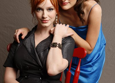 Christina Hendricks, Elisabeth Moss - related desktop wallpaper