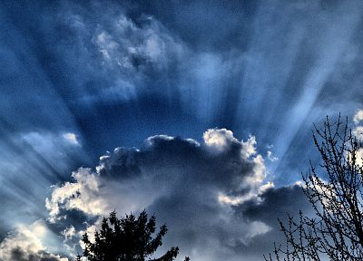 clouds, Sun, HDR photography - random desktop wallpaper