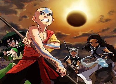 Avatar: The Last Airbender, Toph, Aang, Katara - random desktop wallpaper