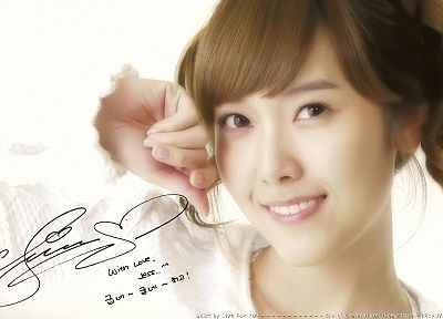 women, Girls Generation SNSD, celebrity, Jessica Jung, signatures - random desktop wallpaper