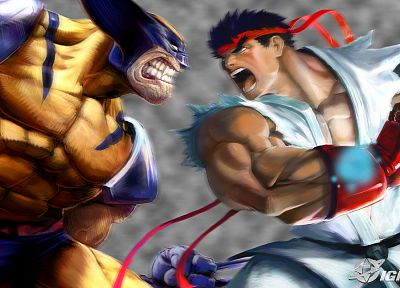 video games, Wolverine, Ryu, Marvel vs Capcom - random desktop wallpaper