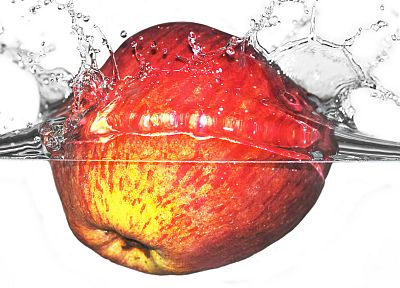 apples, slow motion, splashes - related desktop wallpaper