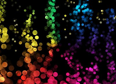lights, bubbles, colors - related desktop wallpaper