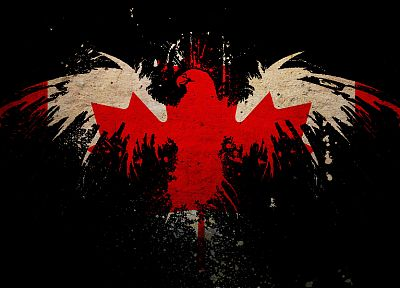 leaf, eagles, Canada, flags, Canadian flag - desktop wallpaper