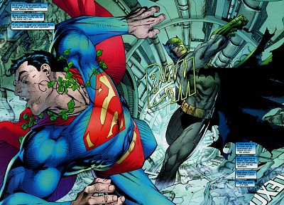 Batman, DC Comics, Superman, superheroes, punching - related desktop wallpaper