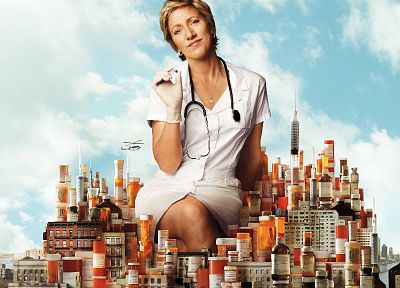 Edie Falco, photo manipulation - random desktop wallpaper