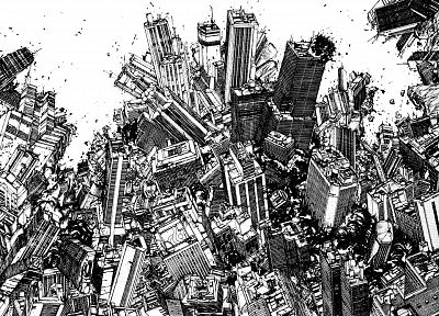 cityscapes, grayscale, cities - random desktop wallpaper