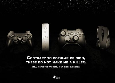 video games, black, Nintendo Wii, gamers, DualShock, controllers, Xbox 360, mice, Playstation 3, video game consoles, Roccat Kone - desktop wallpaper