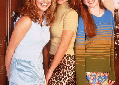 Alyson Hannigan, TV, Sarah Michelle Gellar, Buffy the Vampire Slayer, Charisma Carpenter, Buffy Summers, Willow Rosenberg - related desktop wallpaper