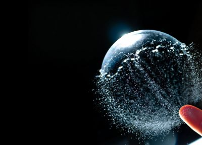 water, bubbles, macro - random desktop wallpaper