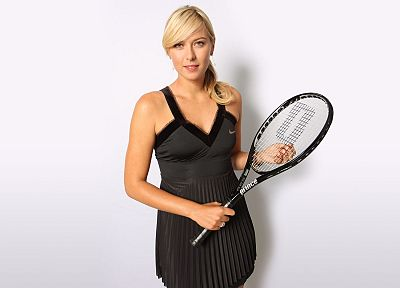 blondes, women, Maria Sharapova, tennis, tennis racquets, white background - related desktop wallpaper
