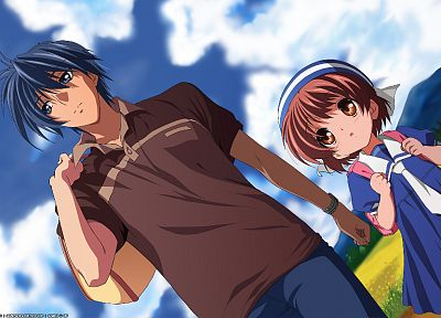 Clannad, Clannad After Story, Okazaki Ushio, Okazaki Tomoya - related desktop wallpaper