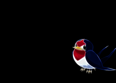 Pokemon, Fractalius, black background - desktop wallpaper