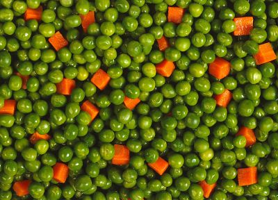 vegetables, food, carrots, peas - desktop wallpaper