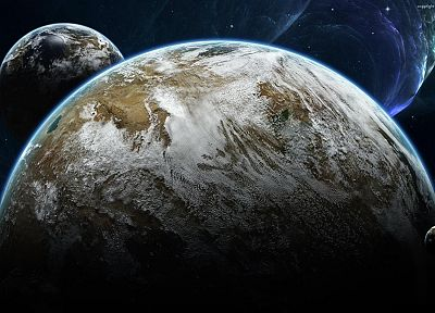 outer space, Earth, darink - related desktop wallpaper