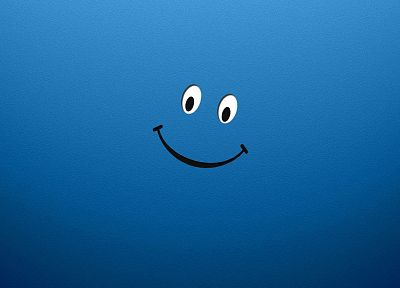 blue, smiley, smiley face, faces - desktop wallpaper