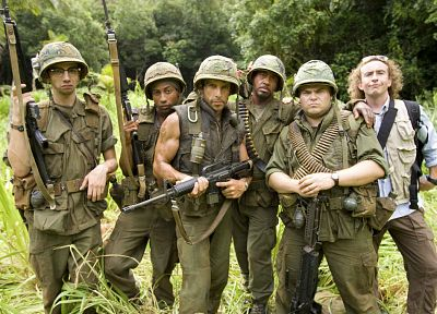 Robert Downey Jr, Tropic Thunder, Jack Black, Ben Stiller, Jay Baruchel - random desktop wallpaper