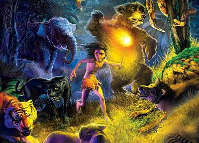 fantasy, artwork, 3D, The Jungle Book - random desktop wallpaper