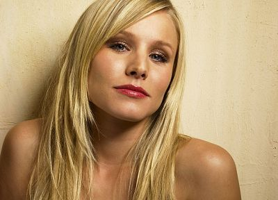 blondes, women, Kristen Bell, actress, celebrity, faces - random desktop wallpaper