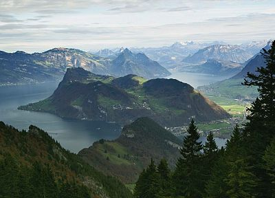 mountains, Switzerland, Alps, Lucerne - desktop wallpaper