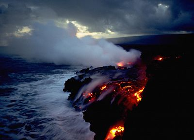 fire, volcanoes, lava, Hawaii - related desktop wallpaper