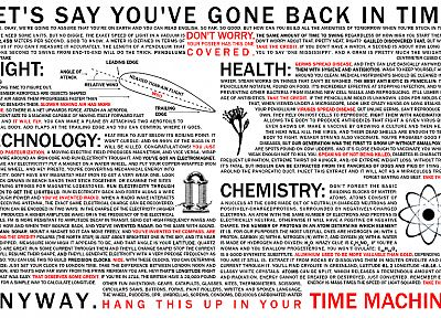 science, text, time machine, time travel, infographics, science fiction, charts, information - related desktop wallpaper