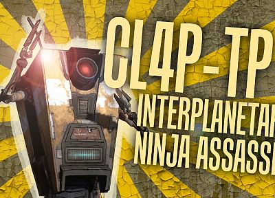 video games, Borderlands, claptrap - desktop wallpaper