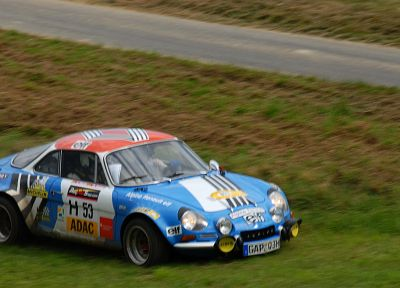 cars, grass, rally, Renault Alpine, racing, races, rally cars, offroad, racing cars, rally car - desktop wallpaper