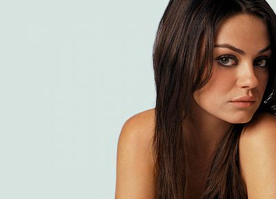 women, Mila Kunis, actress, white background - desktop wallpaper
