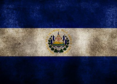 grunge, flags, El Salvador - random desktop wallpaper