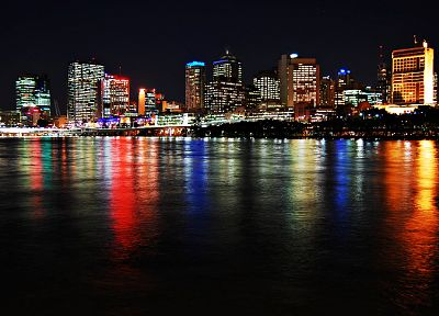 brisbane, city lights, Australia, cities - desktop wallpaper