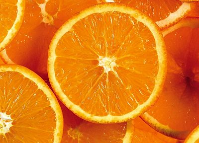 fruits, food, oranges, orange slices - desktop wallpaper