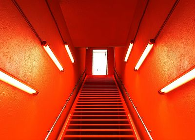video games, Mirrors Edge, stairways, screenshots, level design - related desktop wallpaper