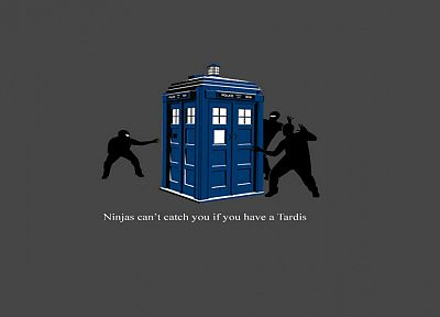 TARDIS, ninjas cant catch you if, Doctor Who - desktop wallpaper