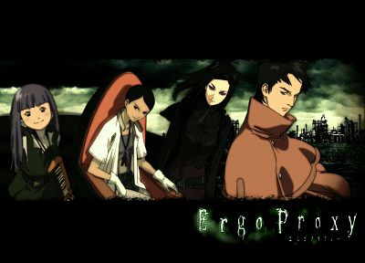 Ergo Proxy, Pino, Re-l Mayer, anime, Daedalus Yumeno - random desktop wallpaper