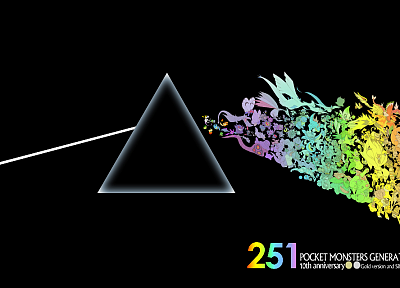 Pokemon, music, Pink Floyd, front, dark side, music bands, The Dark Side Of The Moon - desktop wallpaper