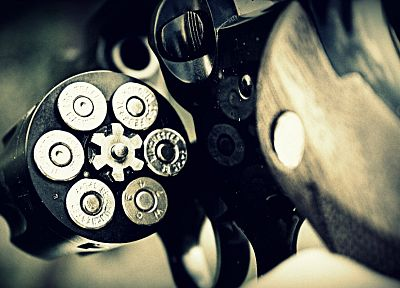 guns, revolvers, weapons, ammunition, bullets - random desktop wallpaper