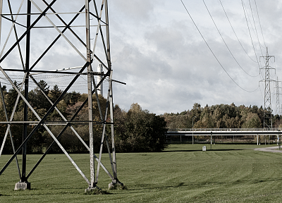 bridges, electricity pole - random desktop wallpaper