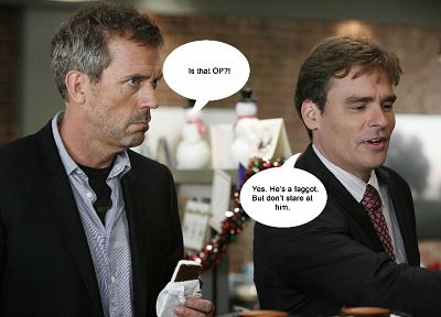 funny, Hugh Laurie, James Evan Wilson, Gregory House, Robert Sean Leonard, House M.D. - random desktop wallpaper