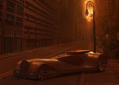 corner, futuristic, cars, lonely, roads, vehicles, neighborhood - desktop wallpaper