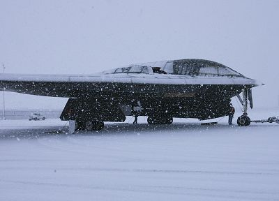 snow, B-2 Spirit - random desktop wallpaper
