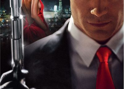Hitman, Olga Kurylenko, Timothy Olyphant, movie posters, Agent 47 - random desktop wallpaper