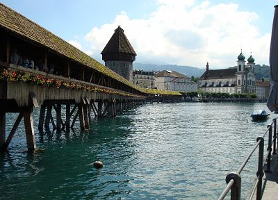 bridges, Switzerland, Lucerne - desktop wallpaper