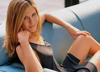 women, couch, actress, Jennifer Aniston, celebrity - random desktop wallpaper