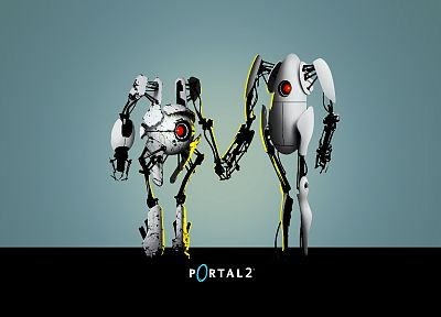 robots, Portal 2 - random desktop wallpaper