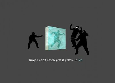 ice, ninjas, ninjas cant catch you if, shock - related desktop wallpaper