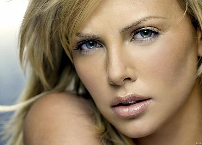 blondes, women, close-up, Charlize Theron, faces - related desktop wallpaper