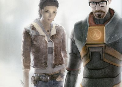 video games, Half-Life, Gordon Freeman, Alyx Vance, Half-Life 2 - related desktop wallpaper