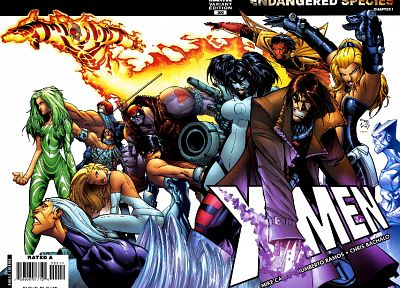 comics, X-Men, artwork, Marvel Comics, Chris Bachalo - related desktop wallpaper